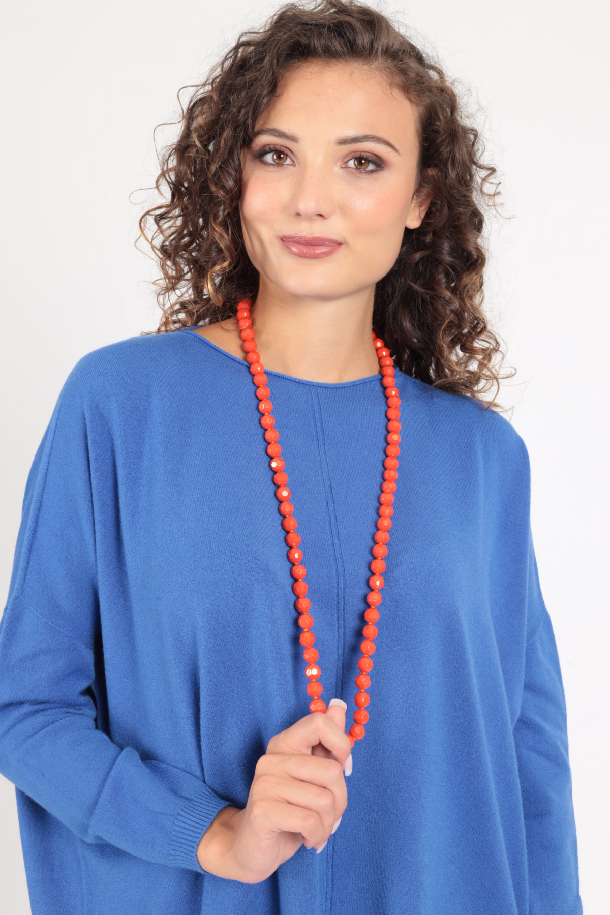 Necklace with Hexagonal Pearls