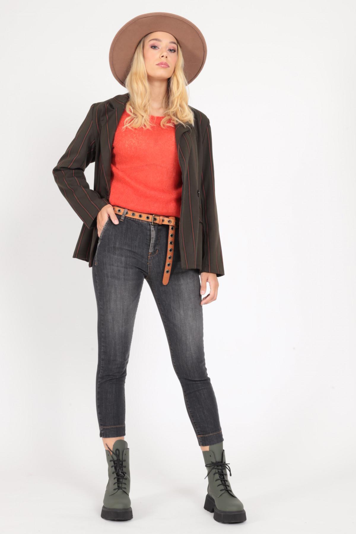 Skinny Jeans Pocket Chino Push Up