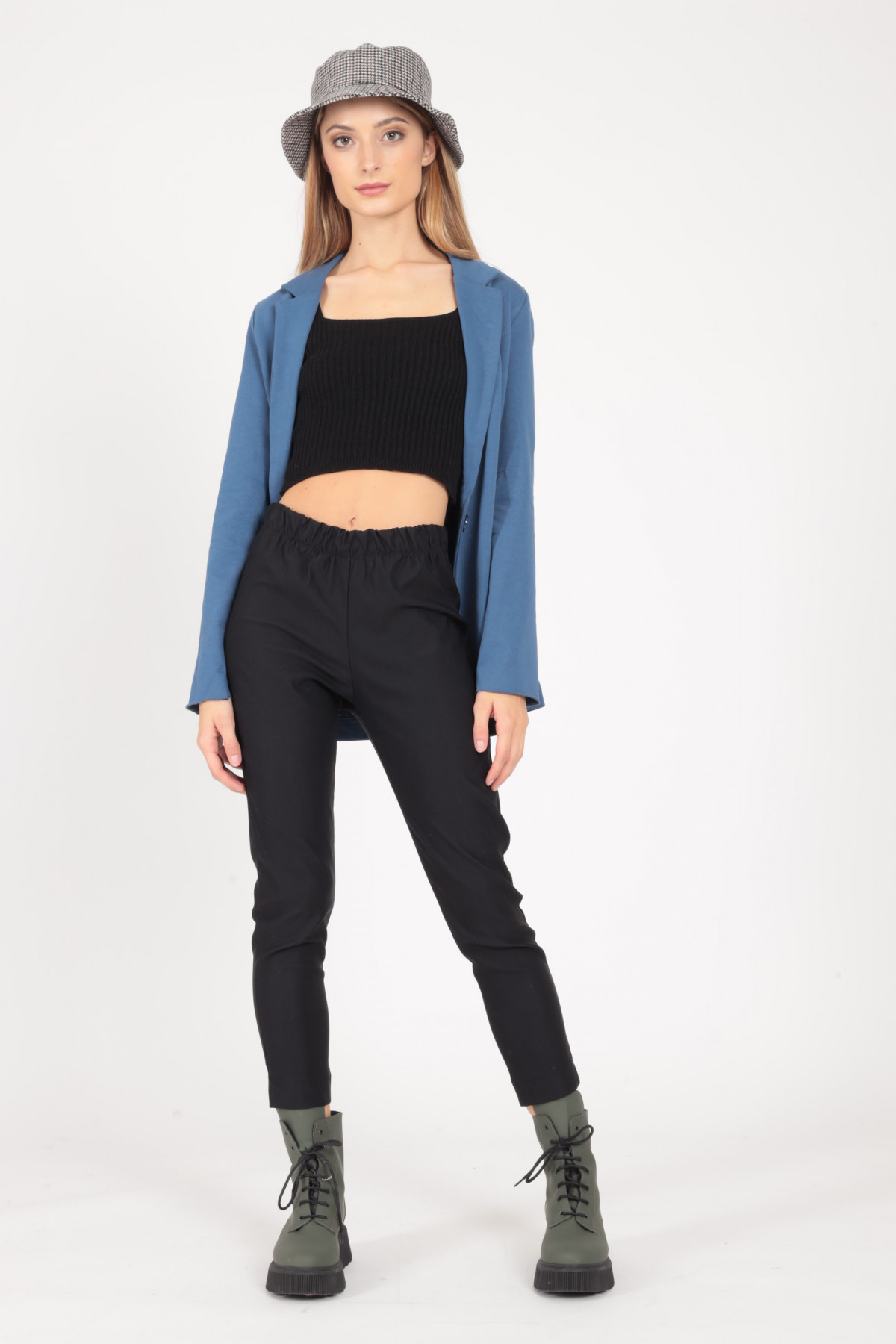 Stretch Pants with High Waist