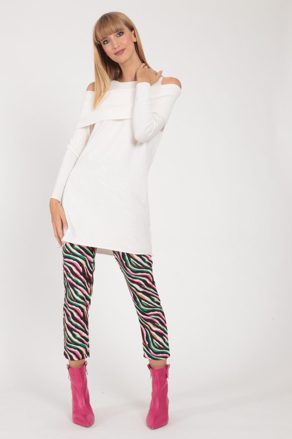 Schiffer Neckline Knit Dress