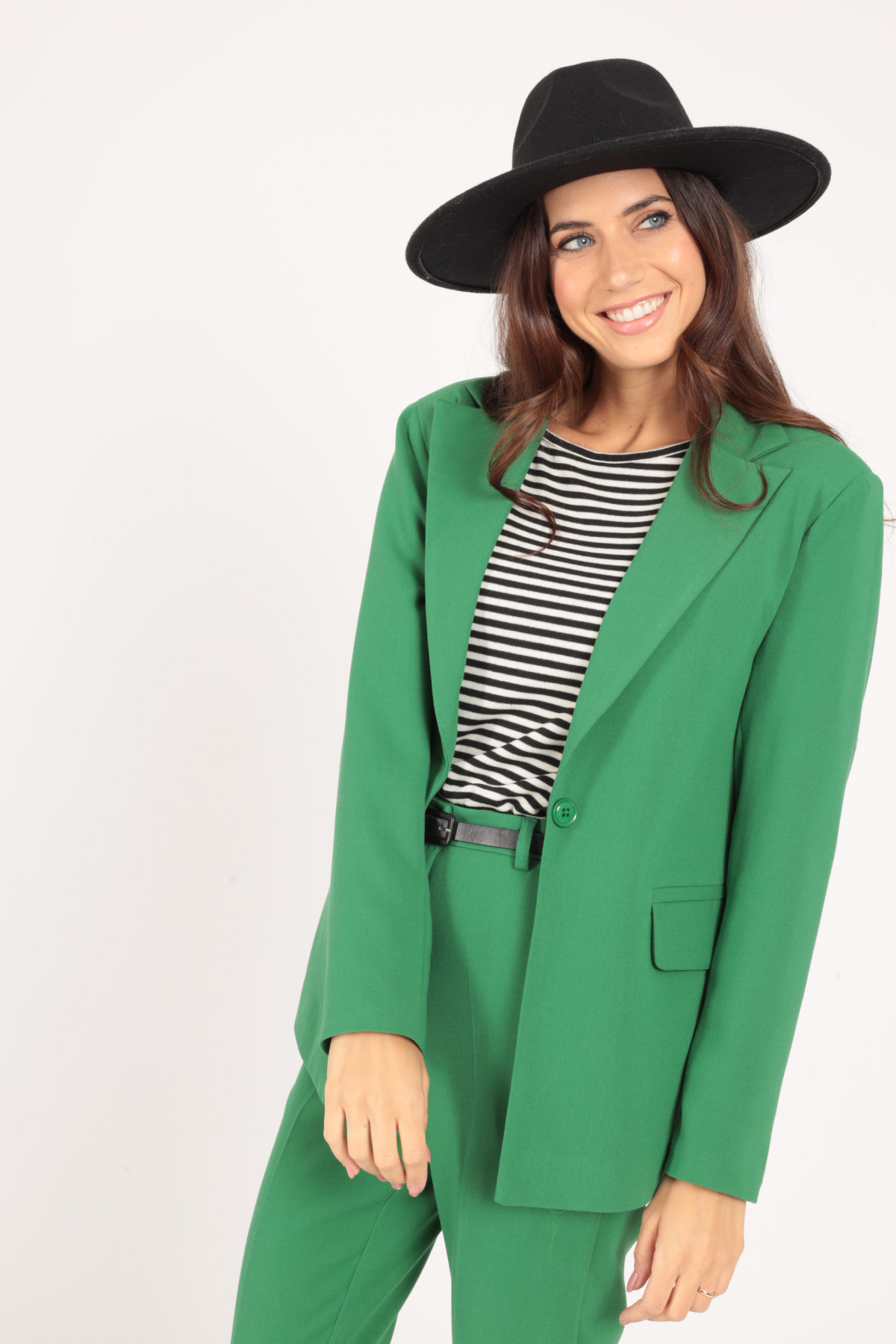 One-Button Jacket with Classic Revers