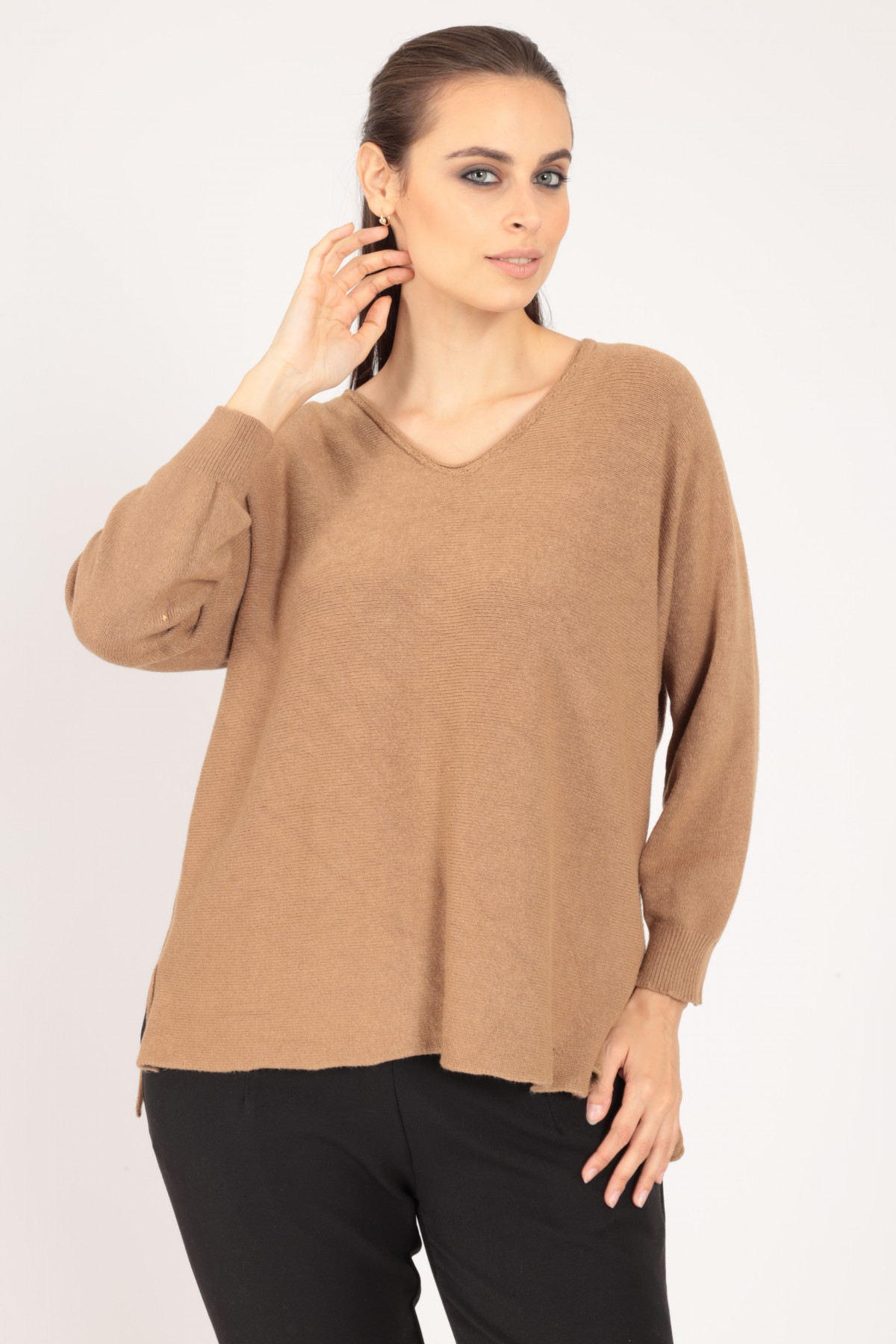 Long Sleeve Pullover with V-Neck
