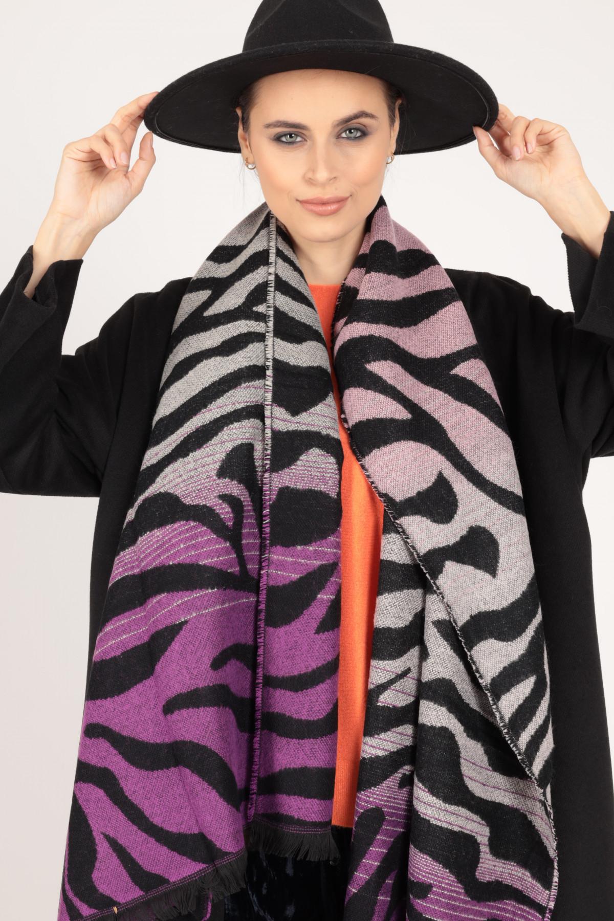Sciarpa zebrata 100%vi