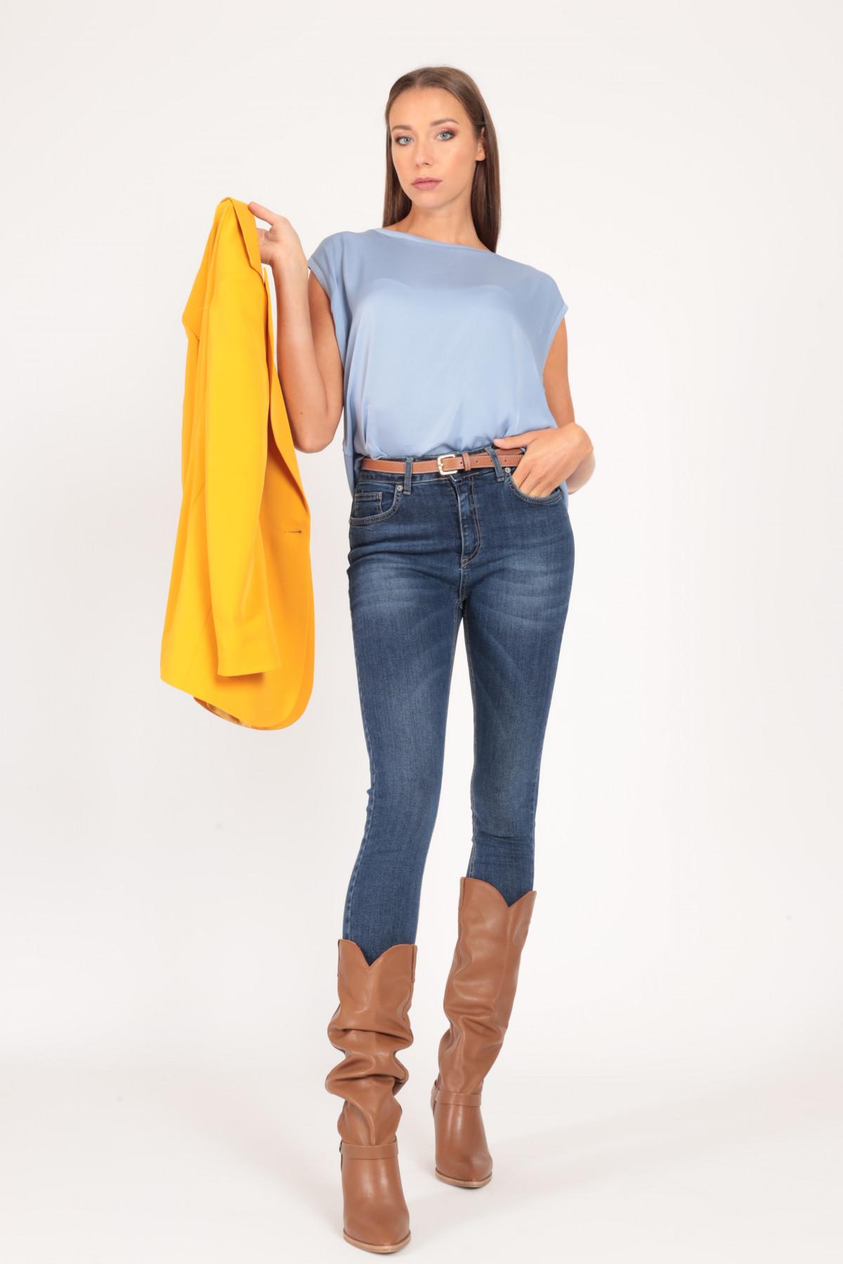 High Waist Skinny 5 Pockets Jeans