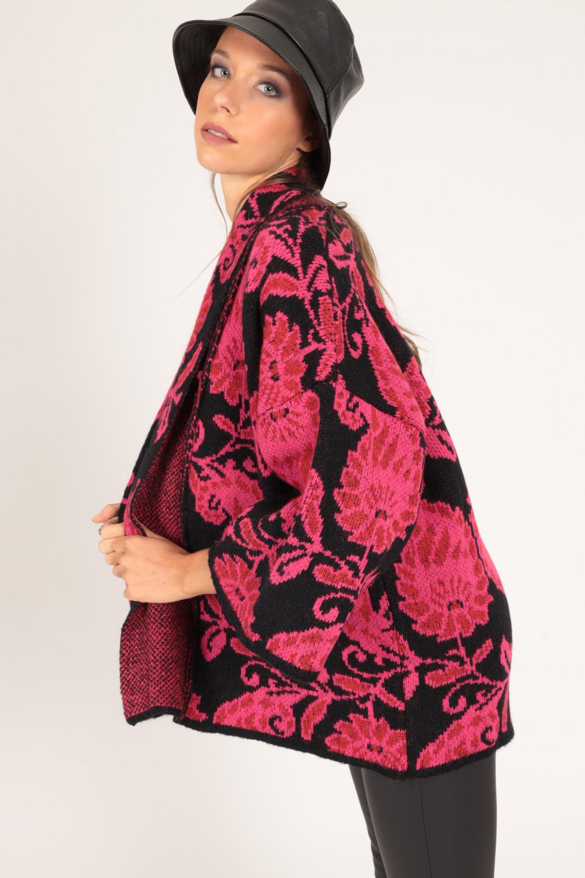 Kimono in Maglia Fantasia Paisley