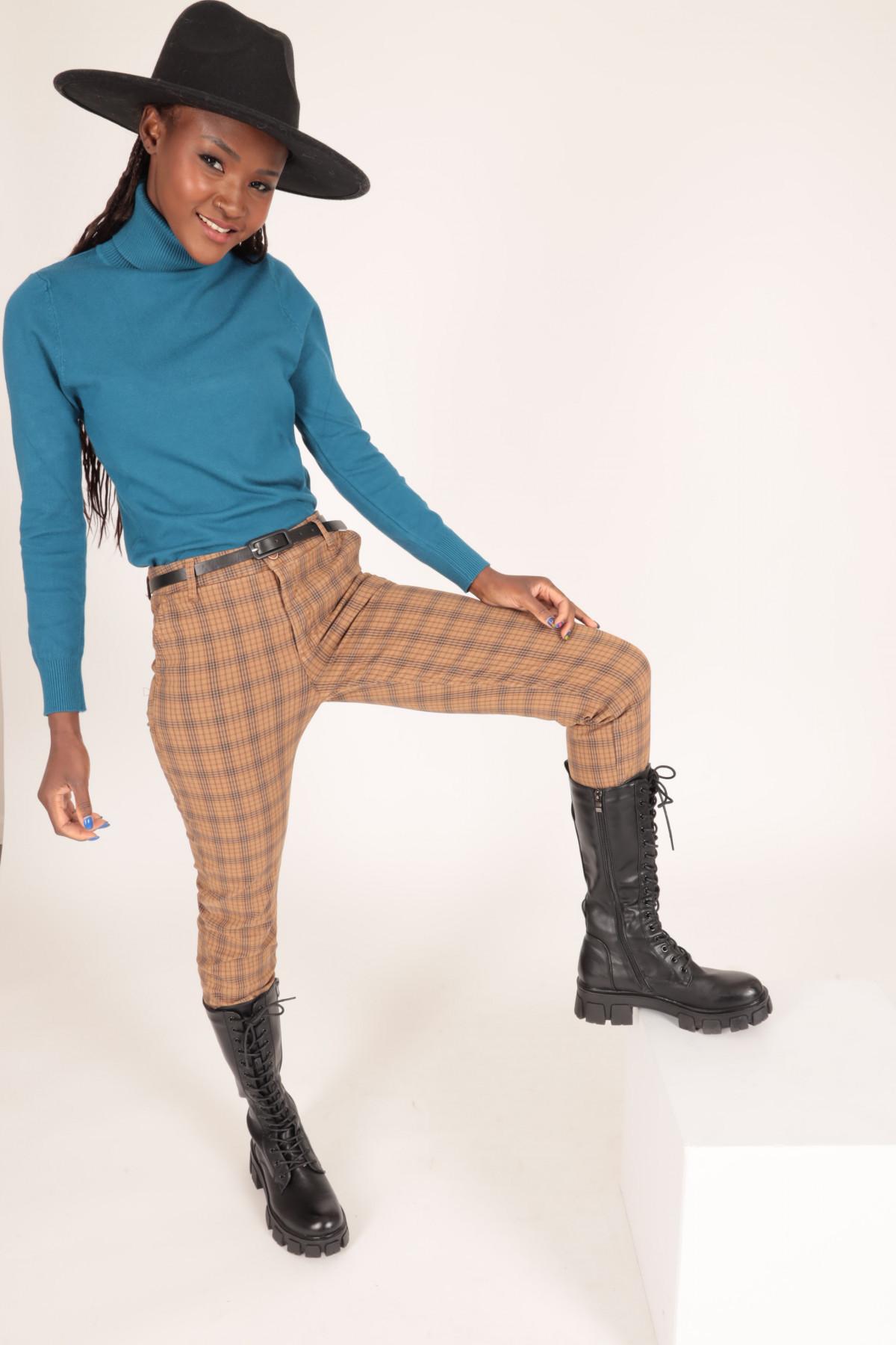 Pantalone quadri 97%CO 3%EA