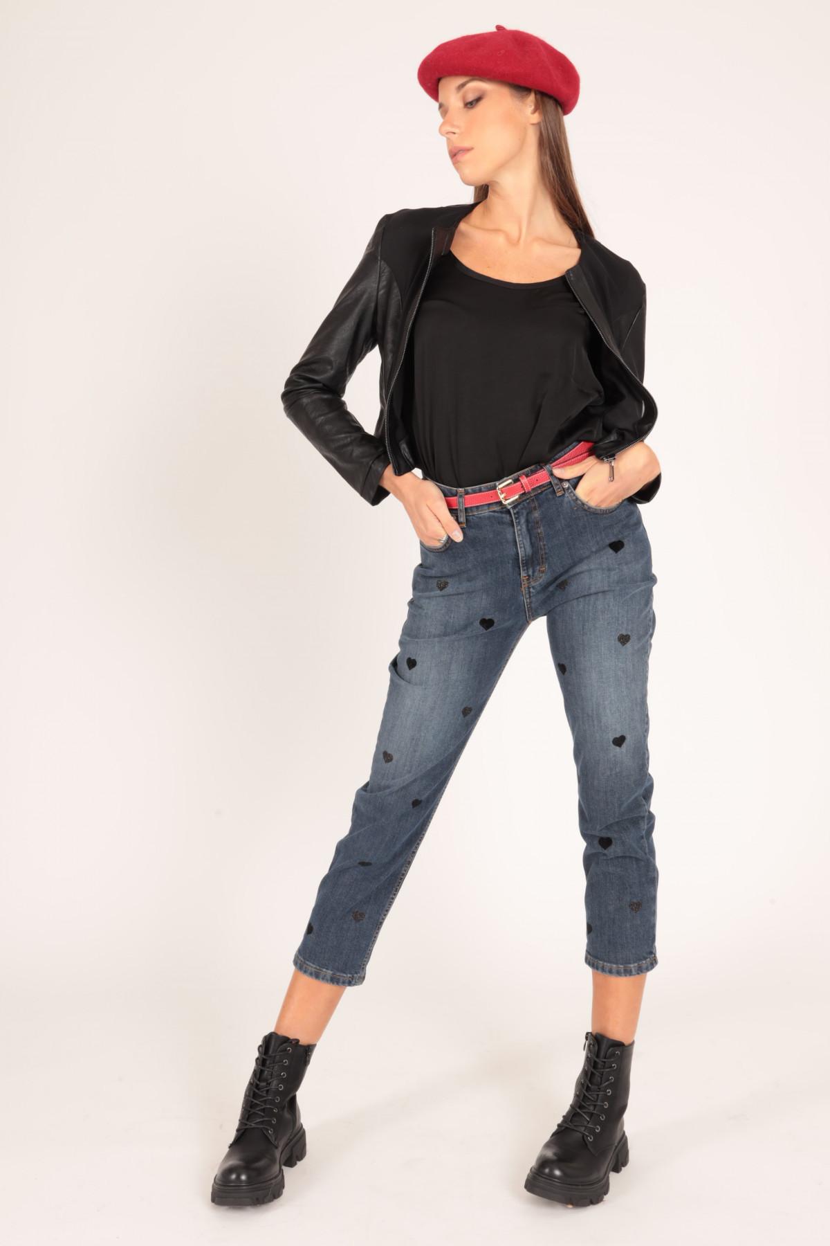 Jeans cuori 98%CO 2%EA