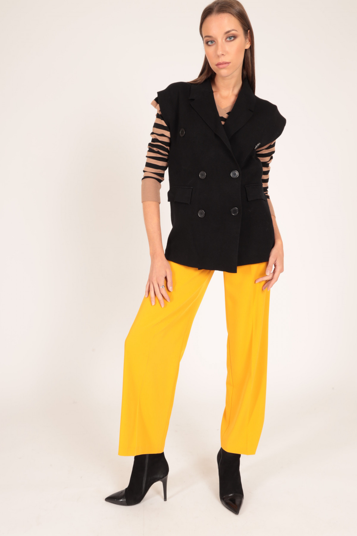 Double-Breasted Vest with Classic Revers