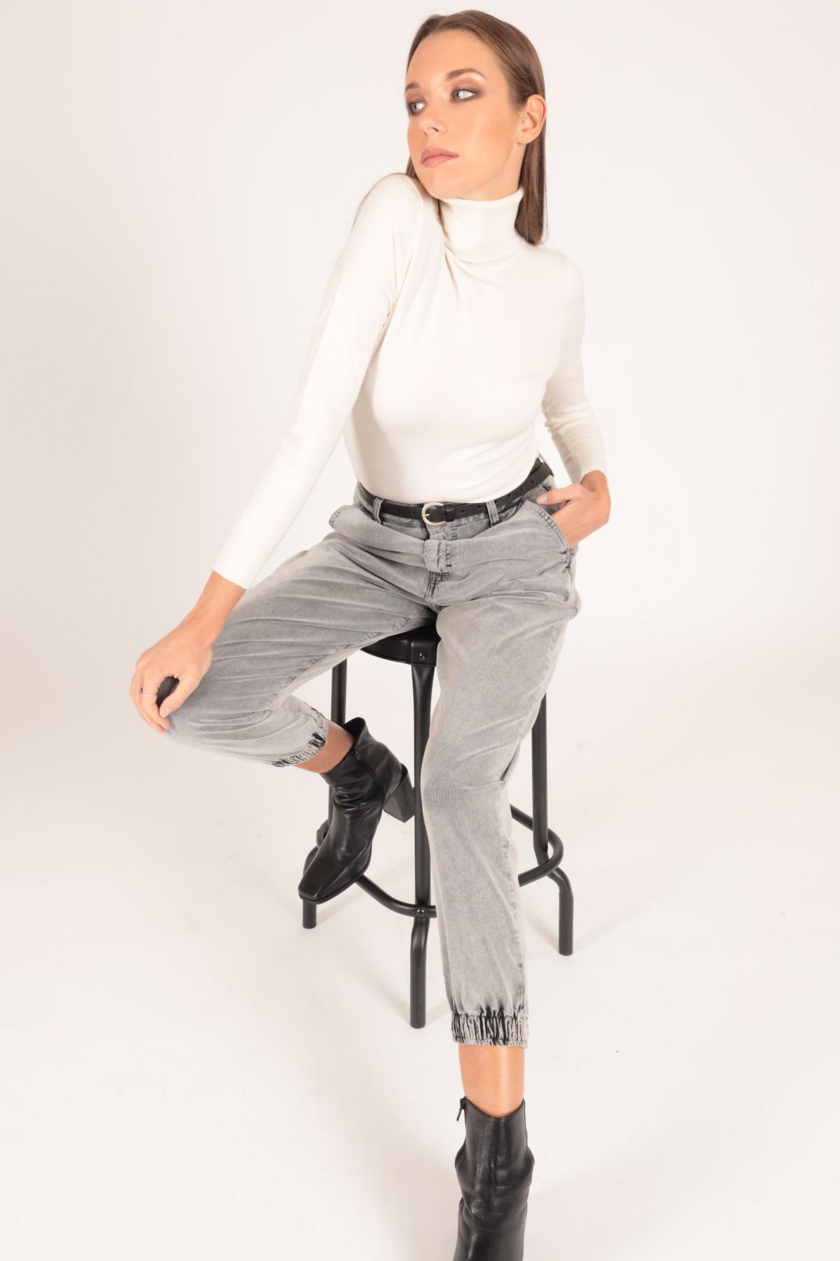 Pantalone marmorizzato 98%co 2%ea
