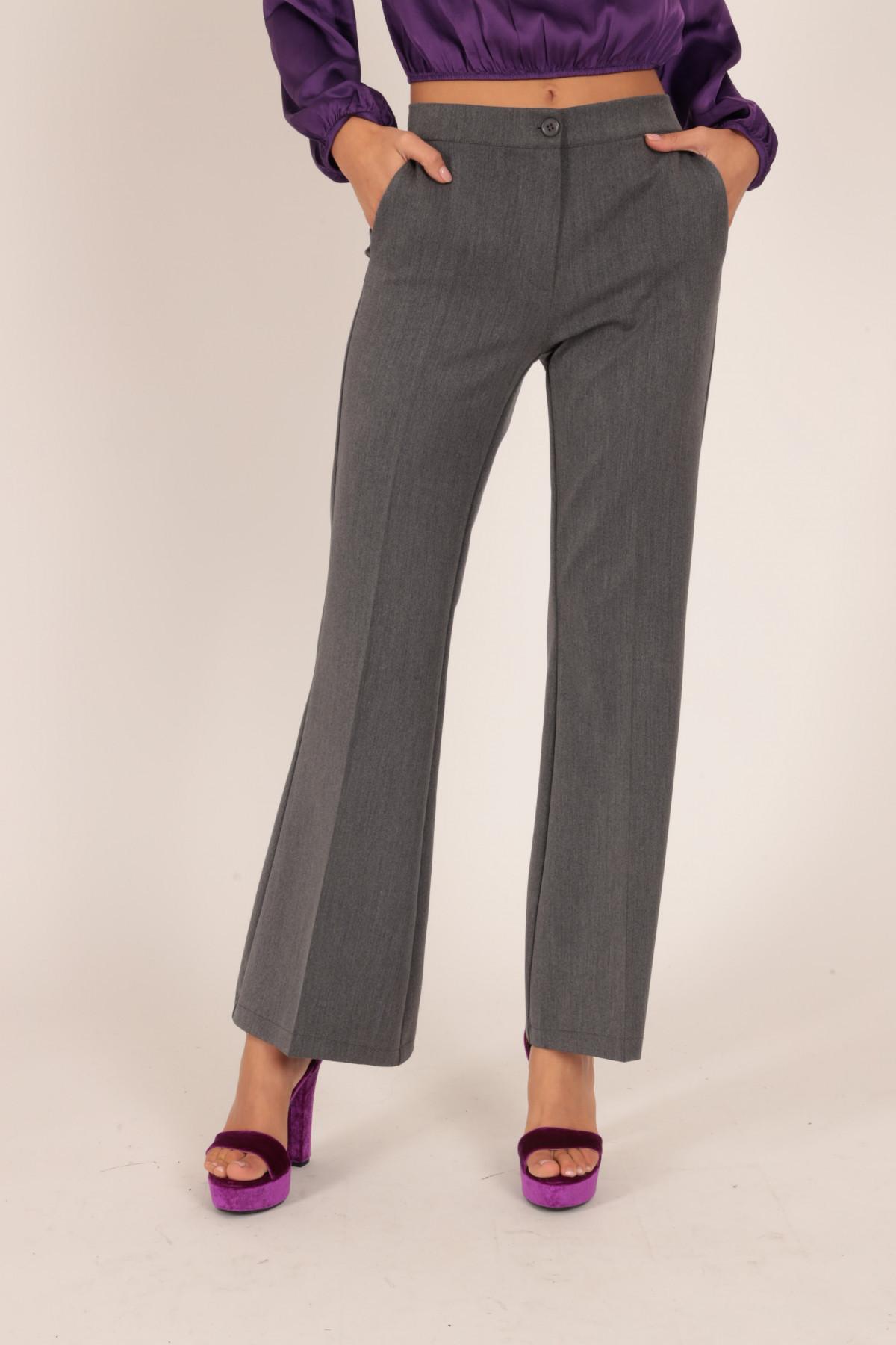 Pantaloni a Zampetta con Vita Elasticizzata
