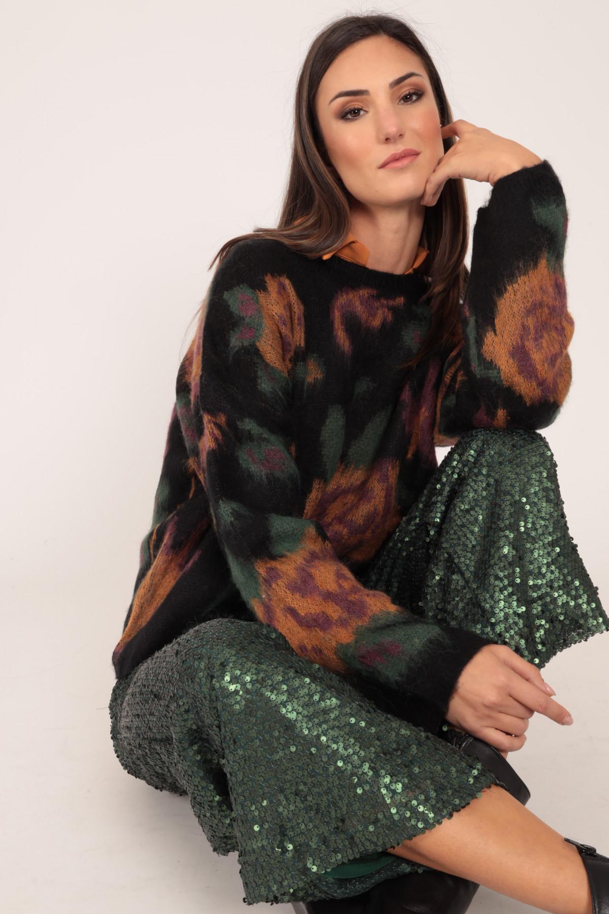 Pullover Jacquard in Fantasia Rose
