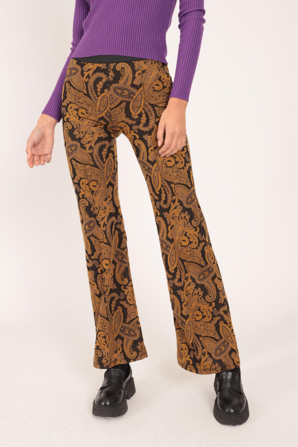 Pantalone zampa 95%pl 5%ea