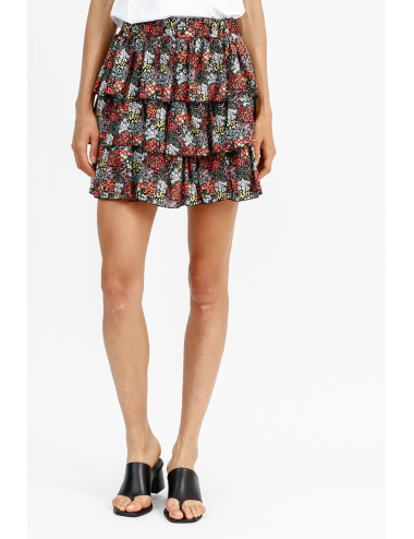 Flowered Short Skirt